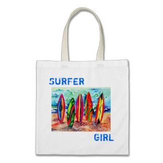 Beach & Surfing Tote Bags